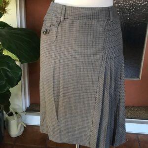 Dolce & Gabbana Houndstooth Pleated Skirt
